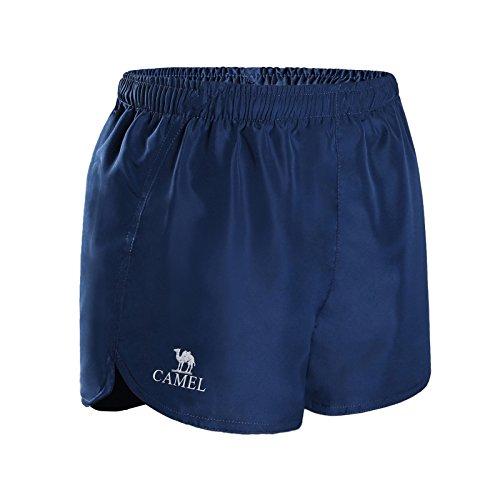 CAMEL Damen Sport Shorts,Damen Yoga Shorts Hose,Kurze Fitness Shorts,Fitness Schnelltrocknend Shorts & Hosen,Hotpants Damen,Trainingshose Yogahose Sporthose Jogginhose Pants,Freizeit Shorts