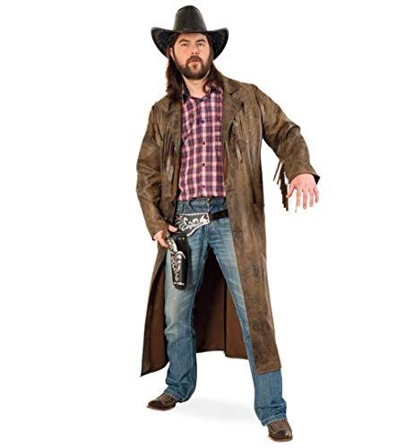 KarnevalsTeufel Herrenkostüm-Set Cowboy 4-teilig Western-Mantel mit Cowboyhut, Revolver-Gürtel und Spielzeug Revolver Dakota Sheriff Wilder Westen (XX-Large)