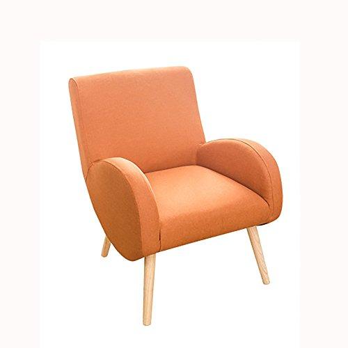 G-Y Canapé Paresseux, Créative Solide Bois Chambre Simple Petit Appartement Canapé, Salon Chaise Arrière Chaise Paresseux (lin) (Couleur : Orange)