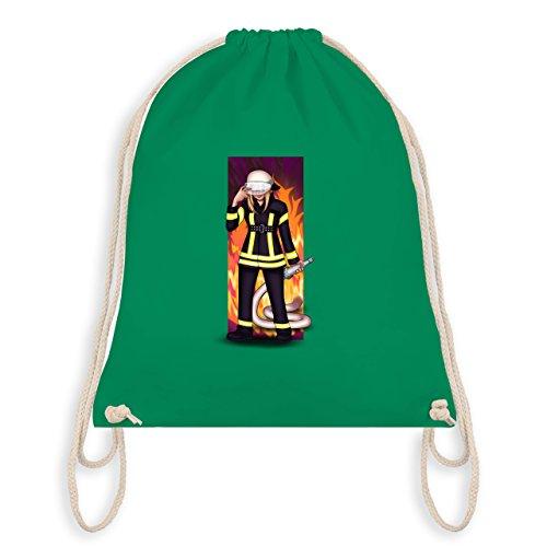 Feuerwehr - Coole Feuerwehrfrau - Unisize - Grün - WM110 - Turnbeutel & Gym Bag