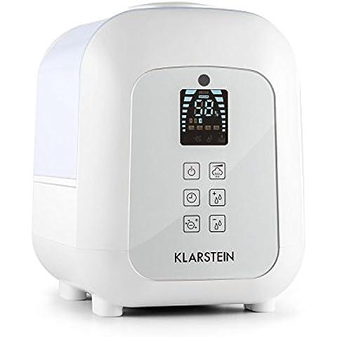 Klarstein Sevilla umidificatore a ultrasuoni digitale (nebulizzatore a basso consumo energetico, serbatoio 4,5 litri, dispositivo ionizzatore, diffusore aroma, telecomando) - bianco
