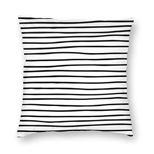 THsirtee Modern Simple Trendy Black White Striped Pattern Dekokissen Fall Platz Kissenbezug Kissenbezug Protektoren Für Sofa Bank Couch Autositz Bett 22