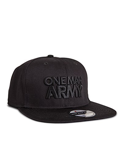 ONE MAN ARMY All Black Snapback Cap, Basecap mit 3D Stick, schwarz, one size -