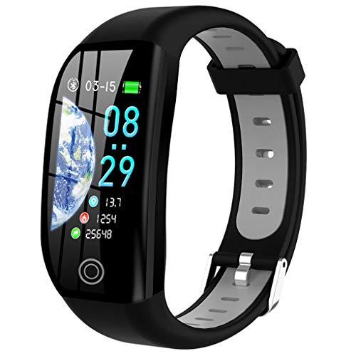 HROIJSL Smart Watch Android iOS Sport Fitness Kalorien Armband Wear Smart Watch F21 schickes Armband Fitness-Tracker HD-Bildschirm IP68 wasserdicht USB-Anschluss