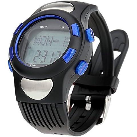Lixada Orologio Sportivo Contapassi Multifunzione con Calorie Counter e Monitor di Frequenza Cardiaca Il Progresso Giornaliero 3ATM
