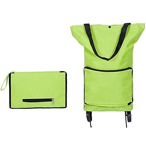 Multifunktion Organizer Faltbare Starke und stabile Mobilitätshilfe, Einkaufswagen, höhen- und winkelverstellbarer Griff (grün) für Männer Frauen (Color : Green, Size : L)