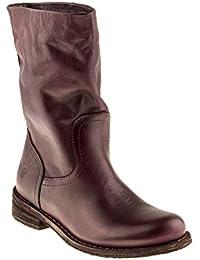 ba4ef80ea90 Felmini - Chaussures Femme - Tomber en amour avec Gredo 6878 - Bottes  Classiques - Cuir Véritable - Bordeaux - 0 EU…