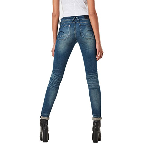 G-STAR RAW Damen Jeanshose Lynn Zip Mid Skinny Wmn