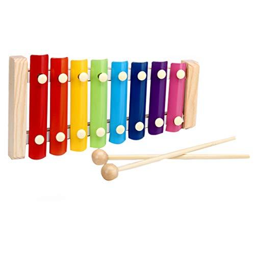 Rekkles Bussare colorato sul Piano 8-Tone Strumento xilofono Giocattolo Musicale Sostituzione per Lo Sviluppo del Bambino Saggezza