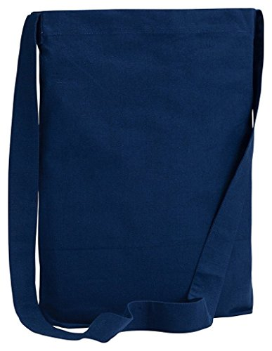 be056BAGedge 6oz Canvas Sling Tote–Pink–One Size Navy