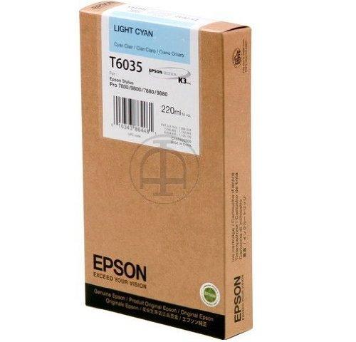 7800 Inkjet (Epson Tintenpatrone light cyan T603500220ml-Ink Cartridges (Light Cyan, Stylus Pro 7880/9880/7800/9800, Inkjet))