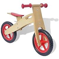 Festnight Balance Bike Wood Red 83 x 36 x 54.5 cm Children