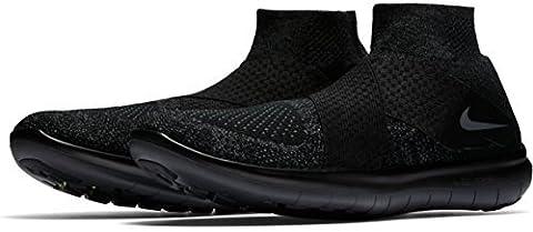Nike Herren Free Rn Motion Fk 2017 Laufschuhe, Mehrfarbig (Black/Dark Grey/Anthracite/Volt), 42.5 EU