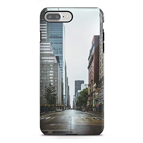 artboxONE Apple iPhone 7 Plus Tough-Case Handyhülle Empty Streets in New York von Thomas Richter