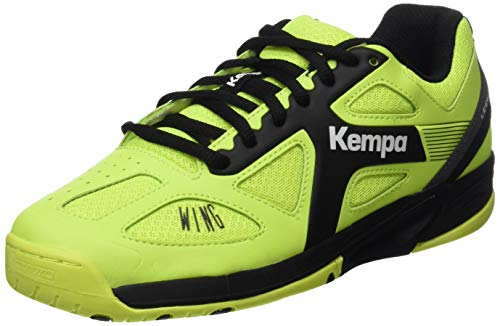 Kempa Wing Junior Caution, Scarpe Sportive Indoor Unisex – Bambini, Multicolore (Fluo Gelb/Anthra/Schwarz), 35 EU (2.5 UK)