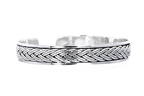 eif ~ ROHAN ~ h: 1 cm - Vikings - 925 Sterlingsilber (arm47) (H Armband Armreif)