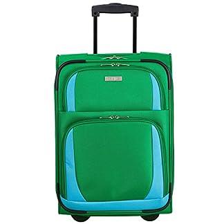 Travelite – Maleta de Material Sintético  Unisex adulto verde apfelgrün/blau
