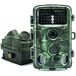 HAOZHENLONG Wildlife Trail caméra Infrarouge LED, imperméable à l'eau HD Night Vision Monitor LCD Chasse caméra Glow for Outdoor Garden Home Jeu Nature