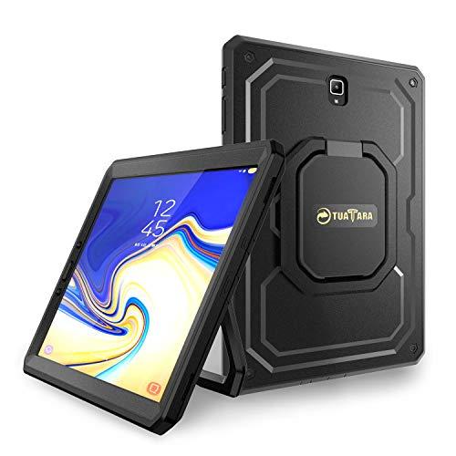 Fintie Stoßfeste Hülle für Samsung Galaxy Tab S4 10.5 T830 / T835 2018 Tablet-PC - [Tuatara Magic Ring] [360-Rotating] Multifunktionale Stand mit Griff Schutzhülle mit eingebauter Schutzfolie, Schwarz - Ring Griff-patent-tasche
