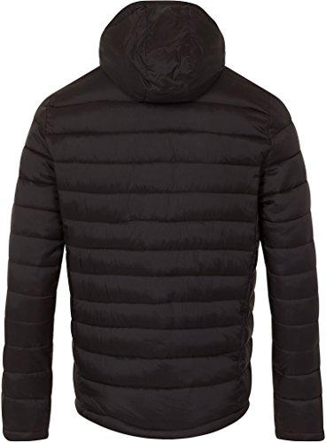Superdry Herren Fuji mit doppeltem Reißverschluss Puffa Jacket, Schwarz Schwarz