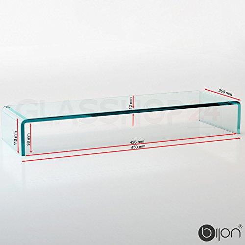 bijon® TV-Glasaufsatz Monitorerhöhung (B/T/H) 450x250x110mm – klar - 5