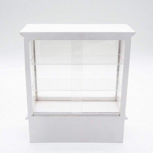 Odoria 1/12 Miniatur Ladenmöbel Holz Kühlvitrine mit Schiebetüren Ladenmöbel Groß Für Puppenhaus Möbel Zubehör