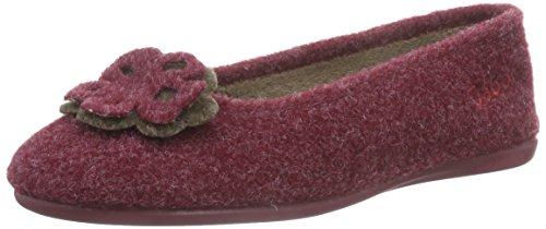 Gabor Home 38001009S burdeos, Pantofole imbottite donna, Rosso (Rot (burdeos)), 39