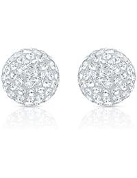 Oviya Rhodium Plated Mesmerizing Shine Earrings With Crystal For Women ER2193104R