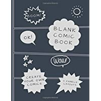 """Blank Comic Book: Create your own Comics: Draw your own Comics in 3 Big Panel Layouts. Large 8.5"""" x 11"""" A4 Size Notebook and Sketchbook for Kids and ... Unleash Talent and Creativity (Create Comics)"""