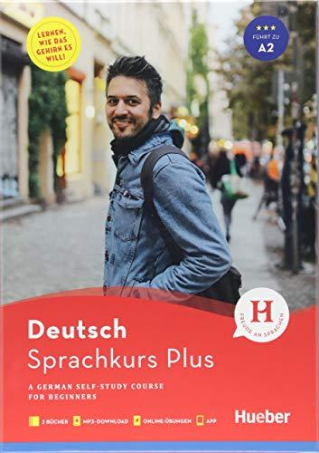Hueber Sprachkurs Plus Deutsch A1/A2, Englische Ausgabe: A German Self-Study Course for Beginners / Buch mit Begleitbuch, Online-Übungen, MP3-Download und App