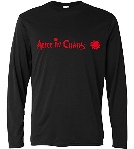 T-shirt a manica lunga Uomo - Alice in Chains Red Print - Long Sleeve 100% cotone LaMAGLIERIA, S, Nero