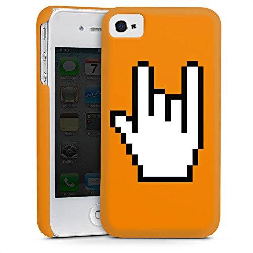 Apple iPhone 5s Housse Étui Protection Coque Rock 8 bit Symbole Main Cas Premium mat