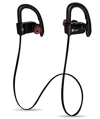 Gosin® cuffie bluetooth auricolari in-ear bluetooth sport 4.1 senza fili con microfono con auricolari stereo, aptx, a2dp impermeabile, cancellazione del rumore, cuffie sport wireless con eva borsa per iphone 8,8plus,8x,7, 7 plus, 6s, 6s plus, 6, 6 plus, samsung, huawei, sony ed altri smartphone