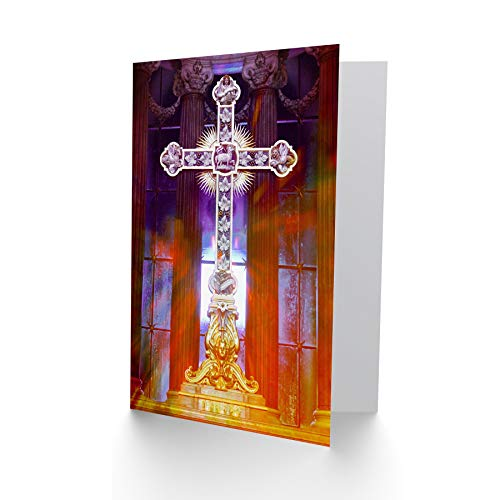 NEW BIRTHDAY PAINTING PSYCHEDELIC CHRISTIAN CROSS ART GREETINGS CARD CP1747