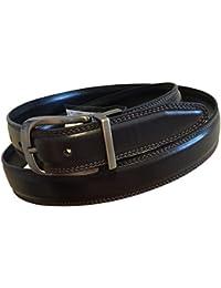 Perry Ellis Men's Reversible Leather Dark Brown Black Dress Belt 40