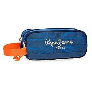 Pepe Jeans Fabio Neceser de Viaje, 22 cm, 1.98 litros, Azul