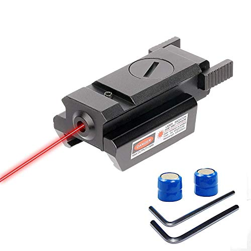 Huntiger Point Rouge Gun Sight Laser Picatinny 20mm Standard Weaver Rail Mount pour Pistolet Arme de Poing Fusil
