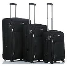 BEIBYE 8007 Stoff Trolley Reisekoffer Koffer in Set-XL-L-M(Boardcase) in 6 Farben