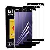 LeeIU [Lot de 3 Verre Trempé Samsung Galaxy A8 2018, Film Protection Samsung Galaxy A8 2018, Anti-Rayures, 9H Verre réel, Anti-Oil & Fingerprint, Compatible 3D Touch (Noir)