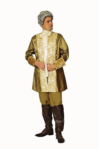 Karneval-Klamotten Barock-Kostüm Rokoko Herren-Kostüm Gold GRAF Edelmann Renaissance Kostüm Herren Karneval Größe ()