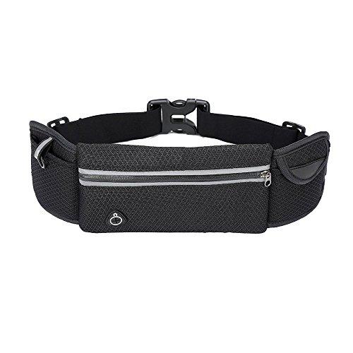 powerlead pfre R002Corsa Cintura da Corsa con Zip Cell Phone Pouch, ombelico, motivo fascia regolabile per uomini e donne Runner Marsupio Vita Marsupio Cintura da Corsa.