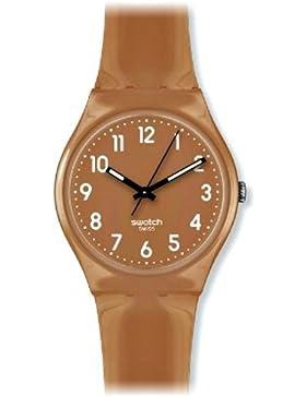 Swatch Damen-Armbanduhr Flaky Braun GC109