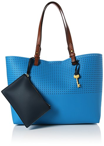 Fossil Damen Damentasche- Rachel Shopper Tote, Blau (Cerulean), 11.43x27.94x34.29 cm