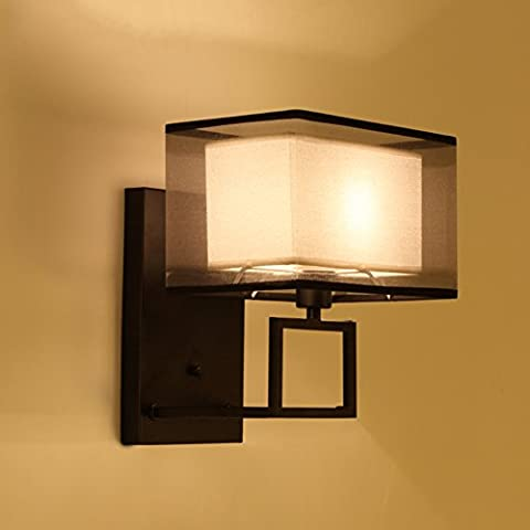 Chinese wall Simple and modern living room dining room stairway lights vintage creative wrought iron bedroom bedside
