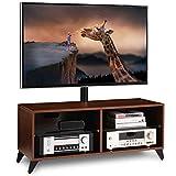 RFIVER Soporte TV de Suelo para Televisiones de 32 a 65 Pulgadas Giratorio y Altura Ajustable de Color Nogal TW4002