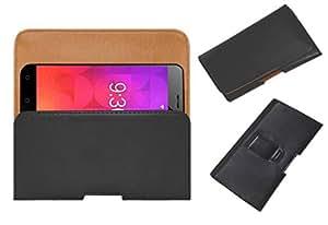 ACM Belt Holster Case for Ziox Astra Viva 4g Mobile Leather Cover Clip Black