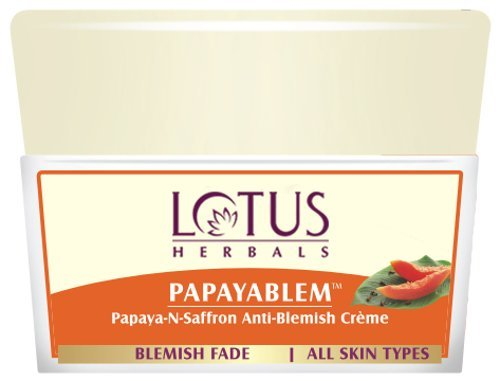 Lotus Herbals Papayablem Papaya-n-Saffron Anti Blemish Cream, 50g