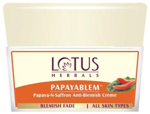 Lotus Herbals Papayablem Papaya-n-Saffron Anti Blemish Cream, 50g