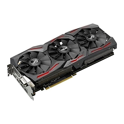 Asus GeForce ROG STRIX GTX 1080 8GB 11Gbps GDDR5X, Grafikkarte, schwarz