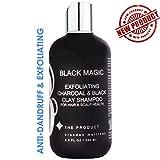 Carboncino e argilla nera DETOSSINANTE Shampoo, Shampoo antiforfora attivato al carbone attivo, chiarificante, volumizzante BLACK MAGIC Shampoo 8,5 once.
